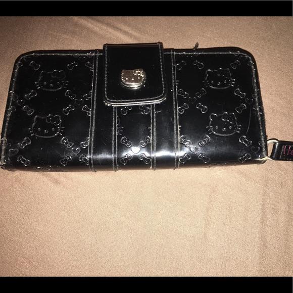 7d7050be48c76 Hello Kitty Bags | Super Cute Black Wallet | Poshmark